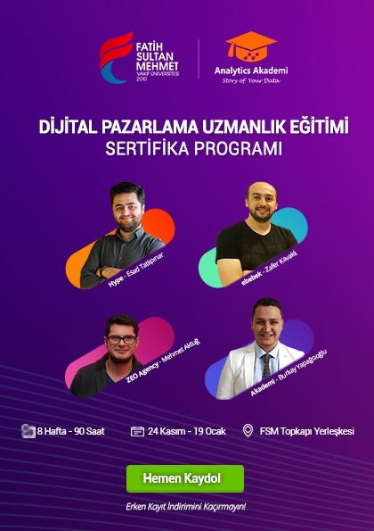 Dijital Pazarlama Eğitimi Sertifika Programı Afişi