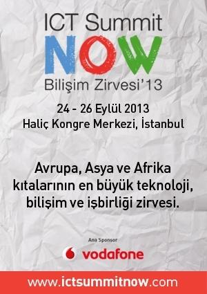 ICT Summit Now - Bilişim Zirvesi 2013 Etkinlik Afişi