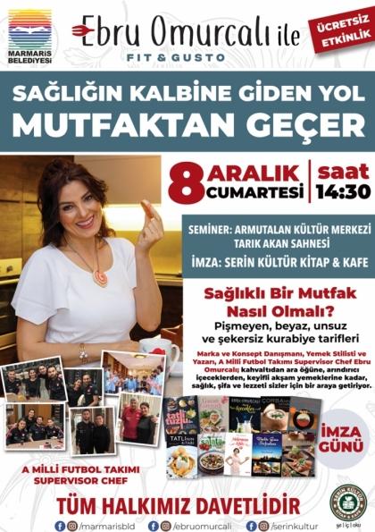 """Ebru Omurcalı ile """"Sağlığın Kalbine Giden Yol Mutfaktan Geçer"""" Etkinlik Afişi"""