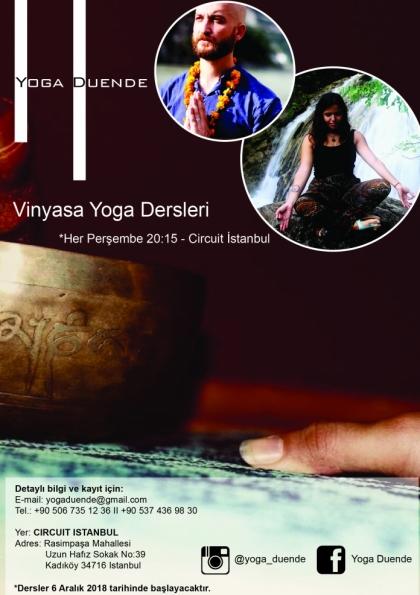 Yoga Duende ile Vinyasa Yoga Dersleri Etkinlik Afişi