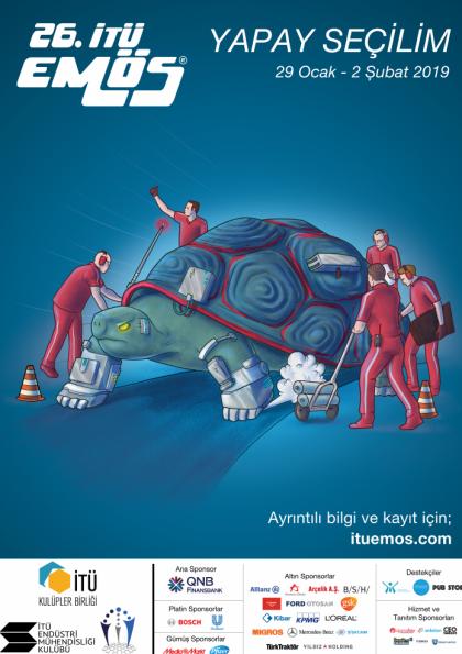 26. İTÜ EMÖS (İTÜ Endüstri Mühendisliği Öğrenci Sempozyumu) Afişi