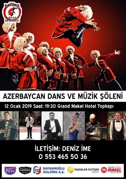 Azerbaycan Müzik Dans Şöleni Etkinlik Afişi
