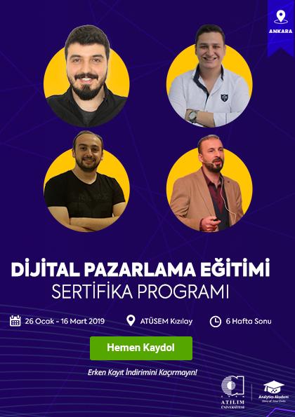 Dijital Pazarlama Eğitimi Sertifika Programı (Ankara)