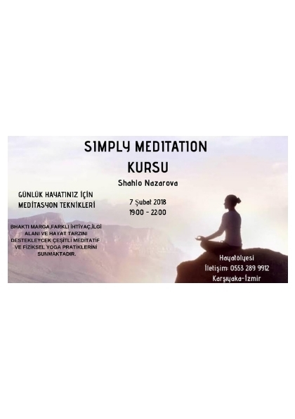 SIMPLY MEDITATION KURSU