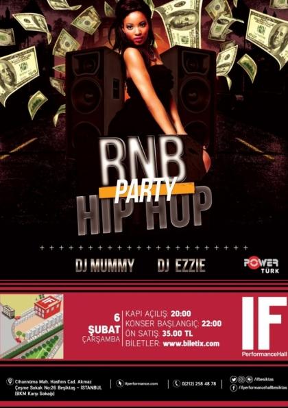 RnB & Hip Hop Party / IF Performance Hall Beşiktaş Afişi