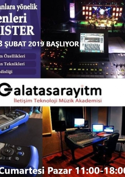 Milli Eğitim Bakanlığı Onaylı Ses Düzenleri Tonmaister Eğitimi Şubat 2019'da