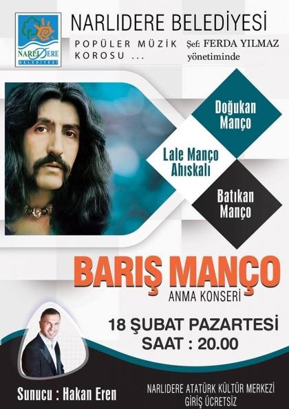 BARIŞ MANÇO Anma Konseri Etkinlik Afişi