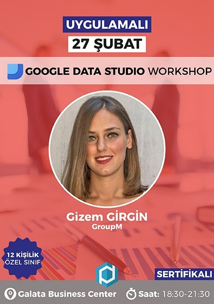 Google Data Studio Workshop Etkinlik Afişi