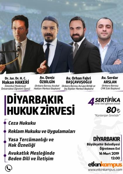 Diyarbakır Hukuk Zirvesi Etkinlik Afişi
