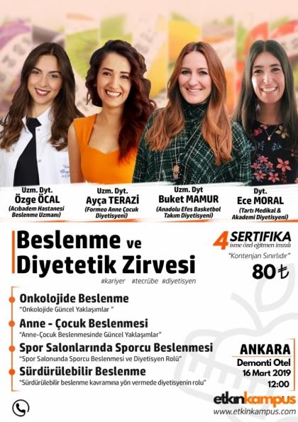 Ankara Beslenme ve Diyetetik Zirvesi Etkinlik Afişi