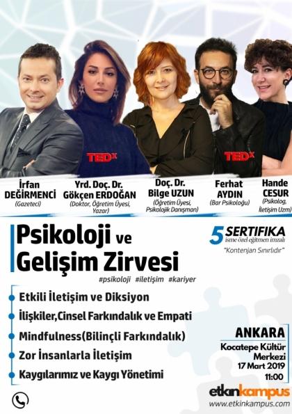 Ankara Psikoloji ve Gelişim Zirvesi Etkinlik Afişi