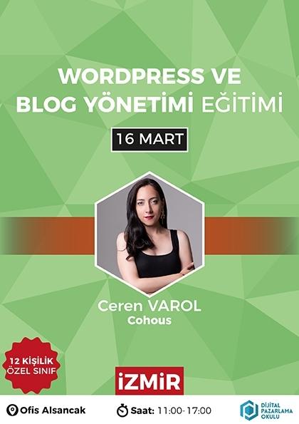 WordPress ve Blog Yönetimi Eğitimi [İzmir] Etkinlik Afişi