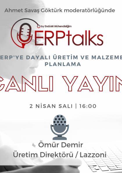 ERPtalks - ERP'ye Dayalı Üretim ve Malzeme Planlama Afişi