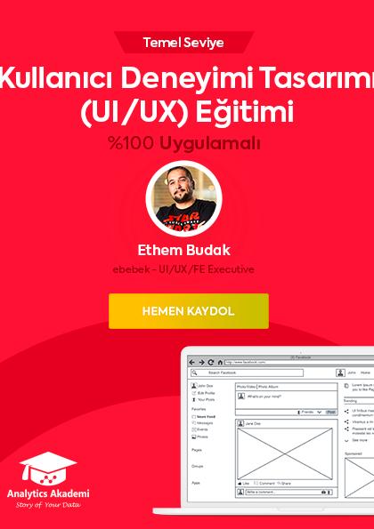 Kullanıcı Deneyimi Tasarımı (UI/UX) Eğitimi Etkinlik Afişi