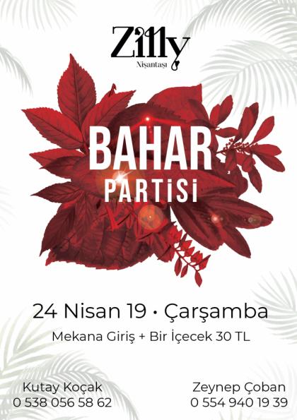 BAHAR PARTİSİ 2019 Afişi