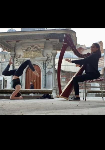 Canlı Arp Müziği eşliğinde Yoga yapmaya ne dersiniz? Etkinlik Afişi