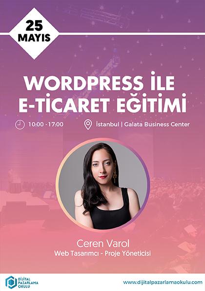 WordPress ve E-Ticaret Eğitimi Etkinlik Afişi