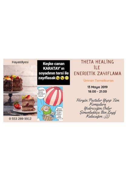 THETA HEALİNG  ile ENERJETİK ZAYIFLAMA Etkinlik Afişi