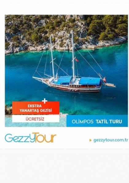 Olimpos- Adrasan Tatil Turu Etkinlik Afişi