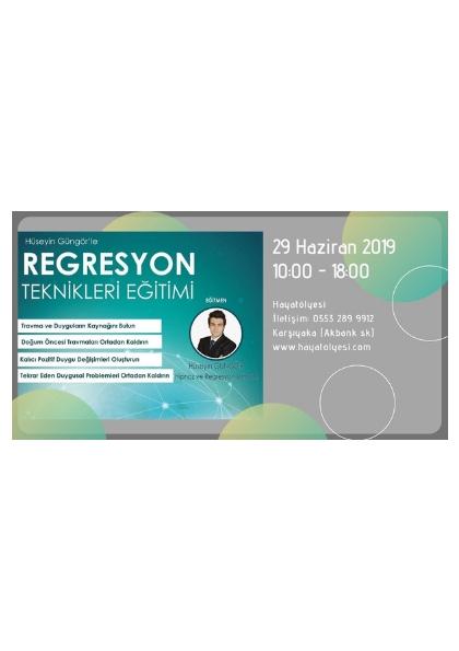 Regresyon Teknikleri Semineri - Hüseyin Güngör Afişi