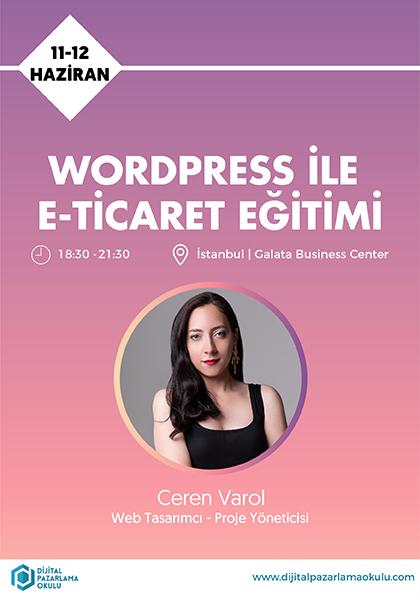 WordPress ile E-Ticaret Eğitimi Etkinlik Afişi