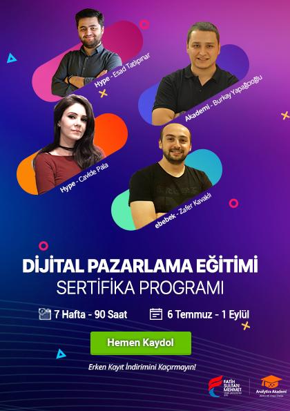 Dijital Pazarlama Uzmanlığı Sertifika Programı Afişi