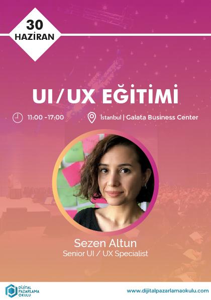 Kullanıcı Deneyimi Tasarımı (UI / UX) Eğitimi Etkinlik Afişi