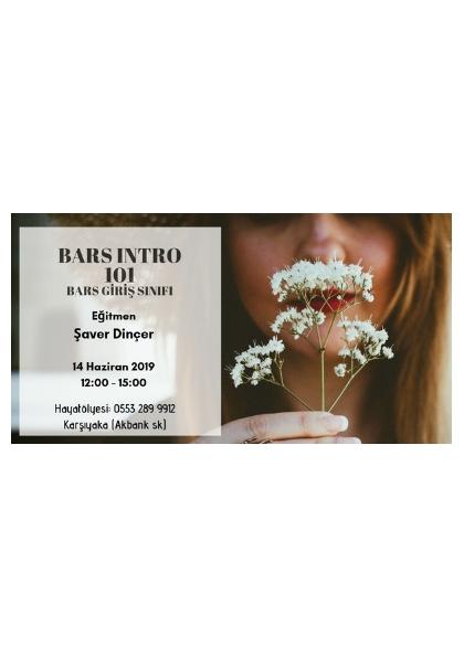 BARS INTRO 101-BARS GİRİŞ SINIFI Etkinlik Afişi