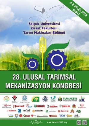 28.Ulusal Tarımsal Mekanizasyon Kongresi - Tarmek 2013 Etkinlik Afişi