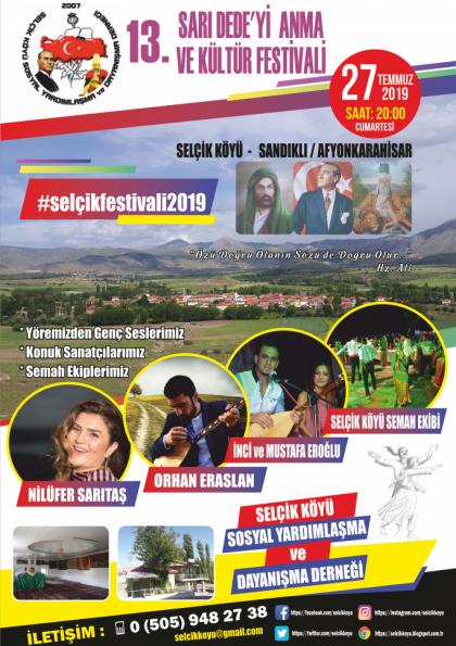 Selçik Köyü 13. Sarı Dede'yi Anma ve Kültür Festivali Afişi