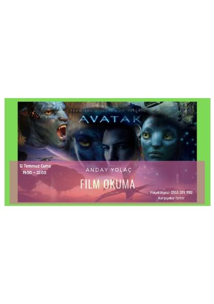 Film Okuma '' AVATAR '' Etkinlik Afişi