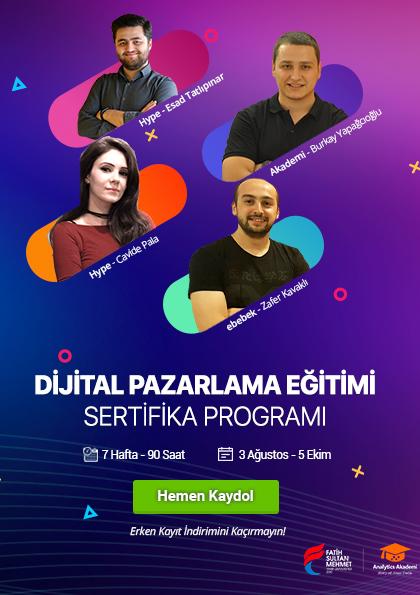Dijital Pazarlama Eğitimi Sertifika Programı Etkinlik Afişi