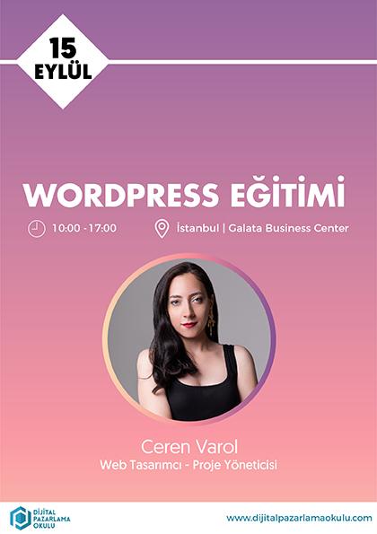 WordPress Eğitimi Afişi