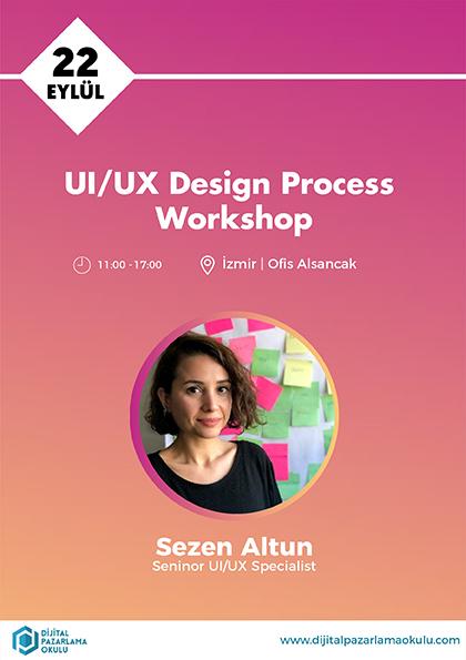 Kullanıcı Deneyimi Tasarımı (UI / UX) Eğitimi [İzmir] Etkinlik Afişi