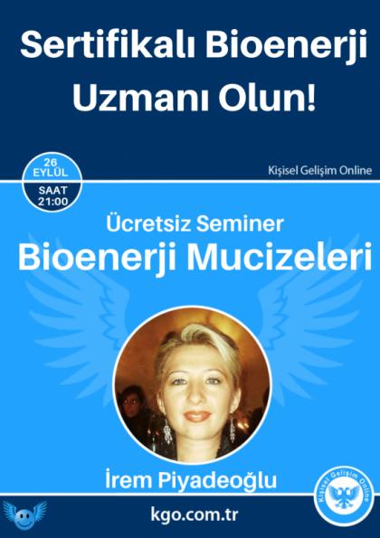 Bioenerji Mucizeleri Eğitimi (1.Modül) Etkinlik Afişi