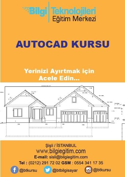 Mimar Mühendis Eğitmenlerle AutoCAD Kursu