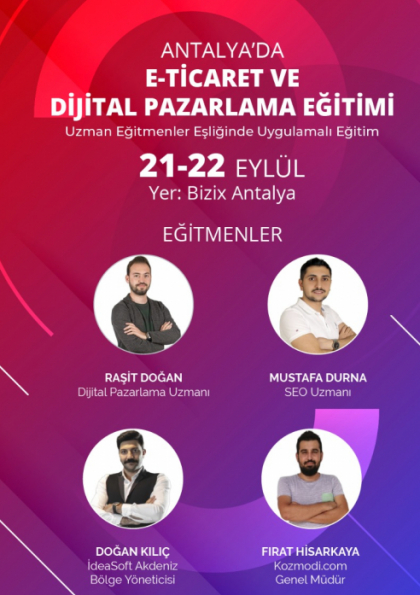 E-Ticaret ve Dijital Pazarlama Eğitimi Afişi