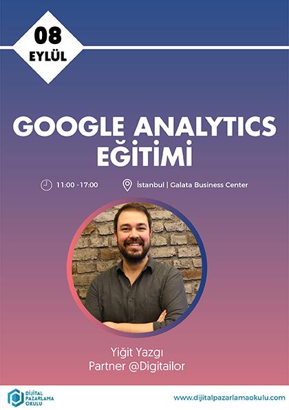 Google Analytics Eğitimi Etkinlik Afişi