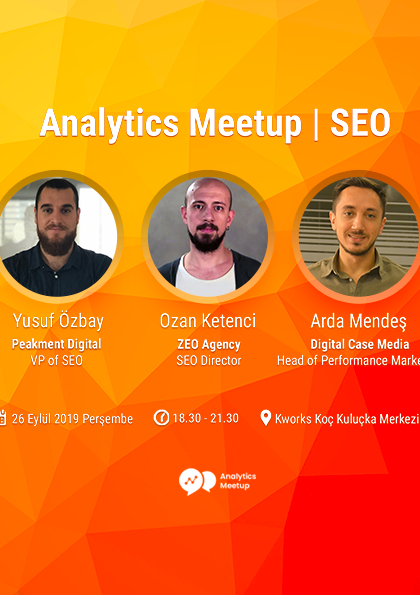 Analytics Meetup | SEO Afişi