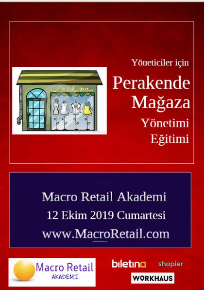 Perakende Mağaza Yönetimi Eğitimi Etkinlik Afişi