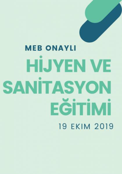 MEB Onaylı Hijyen ve Sanitasyon Eğitimi Etkinlik Afişi
