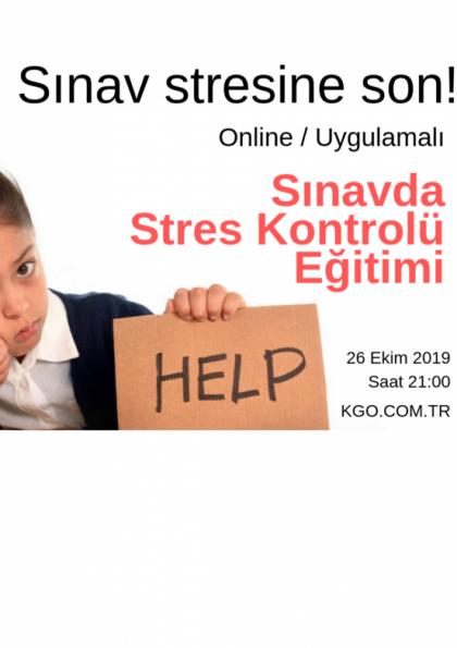 Online Sınavda Stres Kontrolü Eğitimi