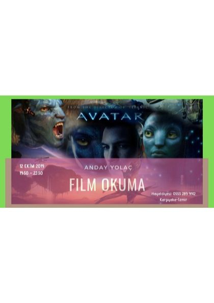 Film Okuma  'AVATAR ' Etkinlik Afişi