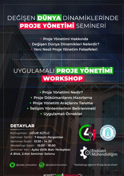 Değişen Dünya Dinamiklerinde Proje Yönetimi Semineri ve Workshop Etkinlik Afişi