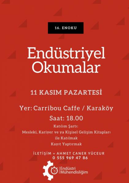 Endüstriyel Okumalar (ENOKU) 16 - İstanbul Etkinlik Afişi
