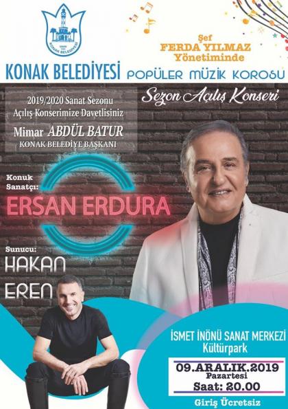 Konak Belediyesi Popüler Müzik Korosu Sezon Açılış Konseri Afişi