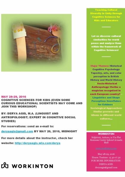 Bilişsel Bilimleri Eğitimci Olarak Çocuklara Anlatmak Etkinlik Afişi