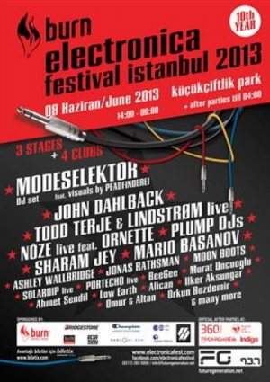 Burn Electronica Festival İstanbul 2013 Etkinlik Afişi