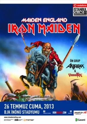 Iron Maiden Konseri Etkinlik Afişi