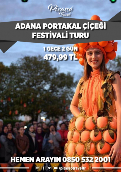 Adana Portakal Çiçeği Festivali Turu Afişi
